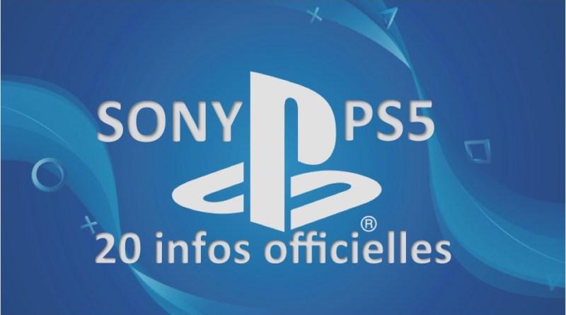 infos officielles SONY PS5 - gouaig