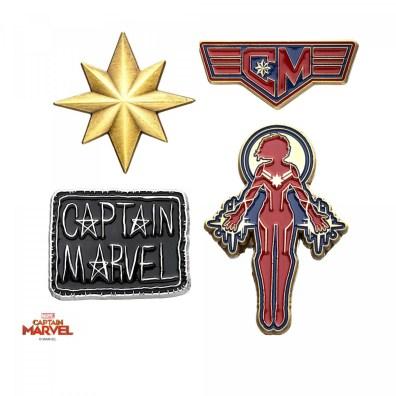 set-de-4-pin-s-captain-marvel-marvel