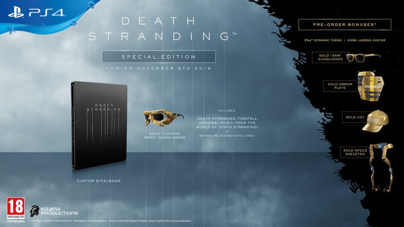 Death Stranding editions spéciale steelbook