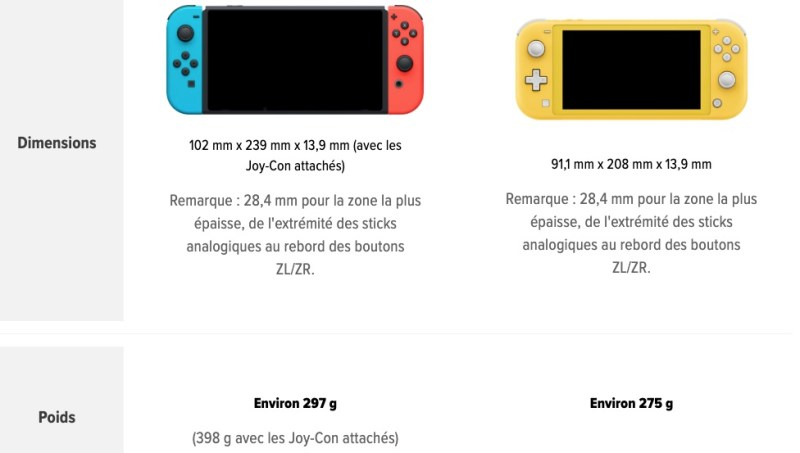 taille switch lite