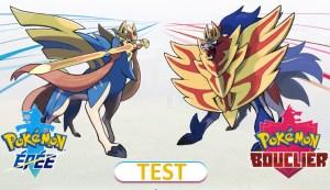 Test Pokémon Epée Bouclier