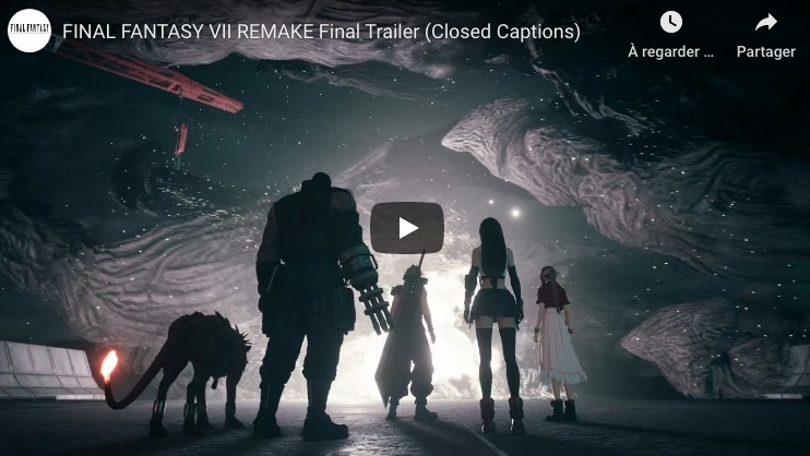 Final Fnatasy VII remake final trailer