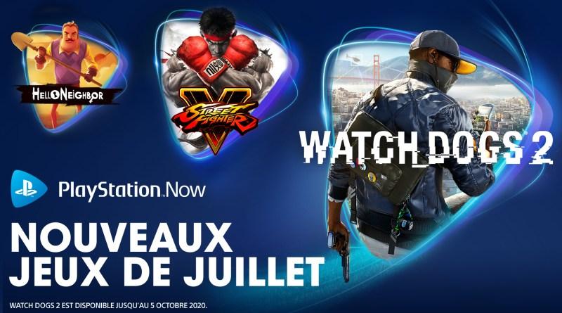 PS Now - Jeux de juillet 2020