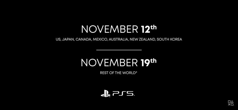date sortie PS5