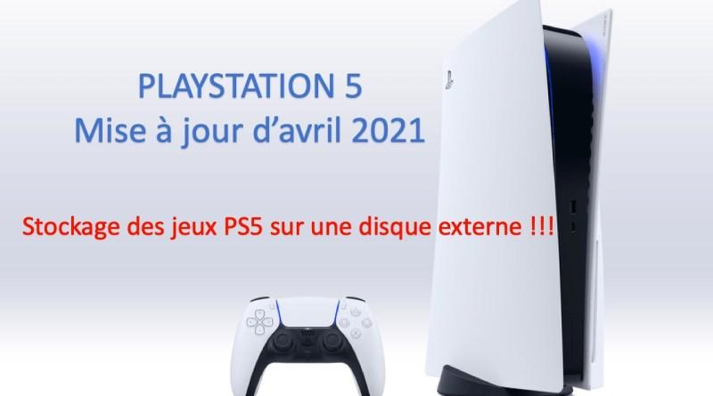 Mise à jour PS5 avril 2021 - gouaig