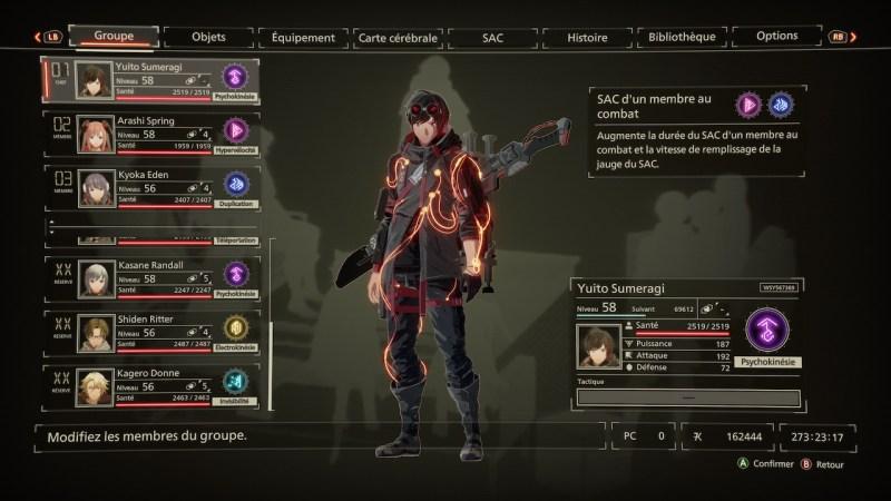 Test Scarlet Nexus