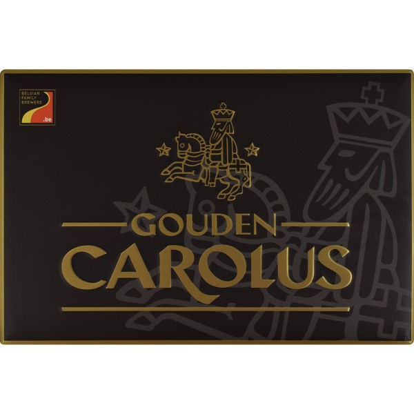 Wall sign Gouden Carolus black with gold logo