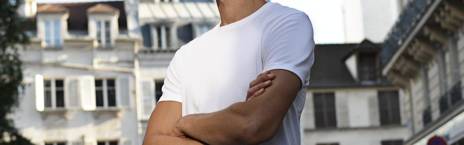 Découvrez les T-shirts pour homme col rond