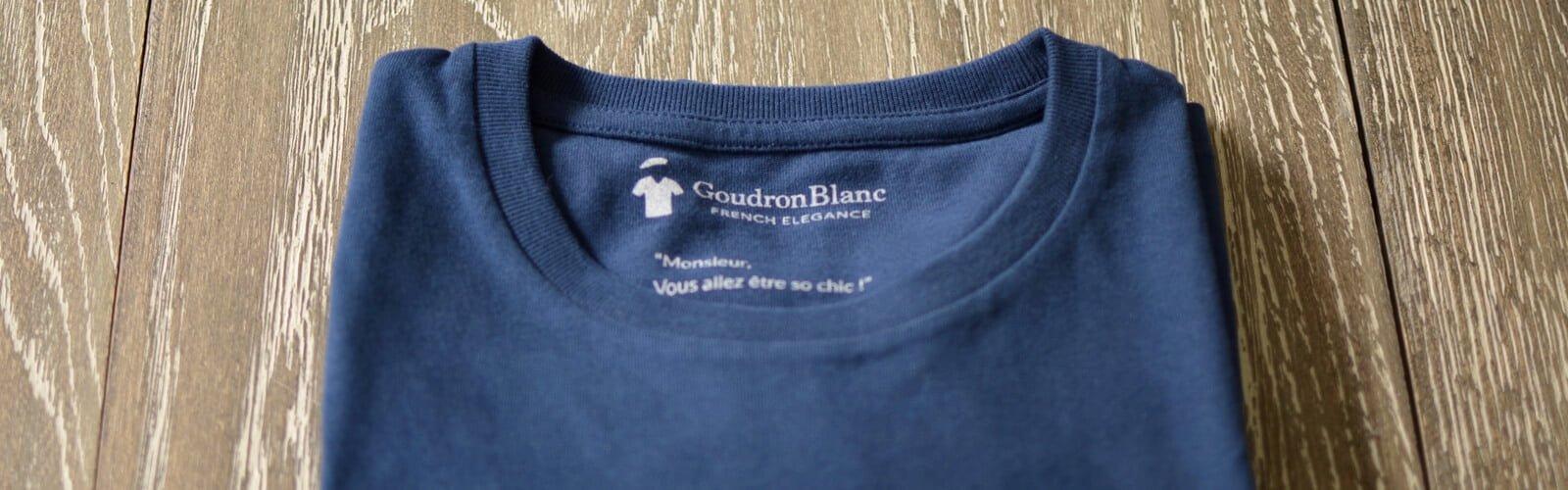 T-shirt bleu pour homme - GoudronBlanc