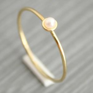 gouden ring met zoetwaterparel