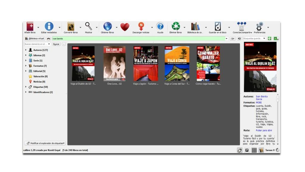 Calibre: Gestor de ebooks