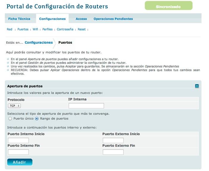 Configuracion servidor synology NAS DS213J y router movistar