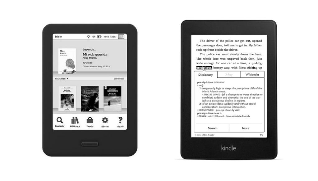 ereader bq cervantes vs kindle paperwhite