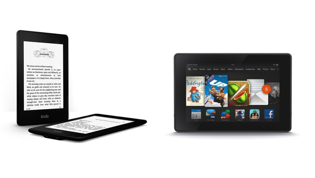 ereader kindle y tablet kindle fire