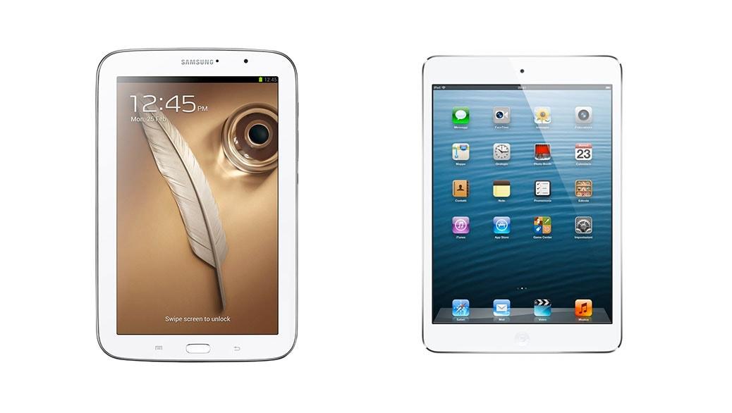Comparativa De Tablets Samsung Galaxy Note 8 0 Vs Ipad