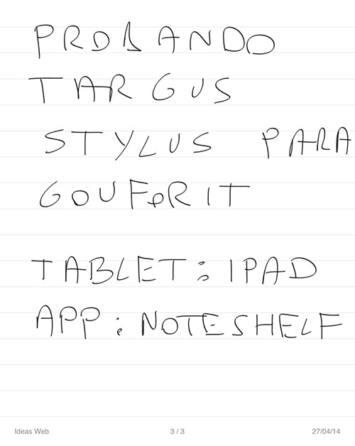 prueba targus lapiz digital en iPad