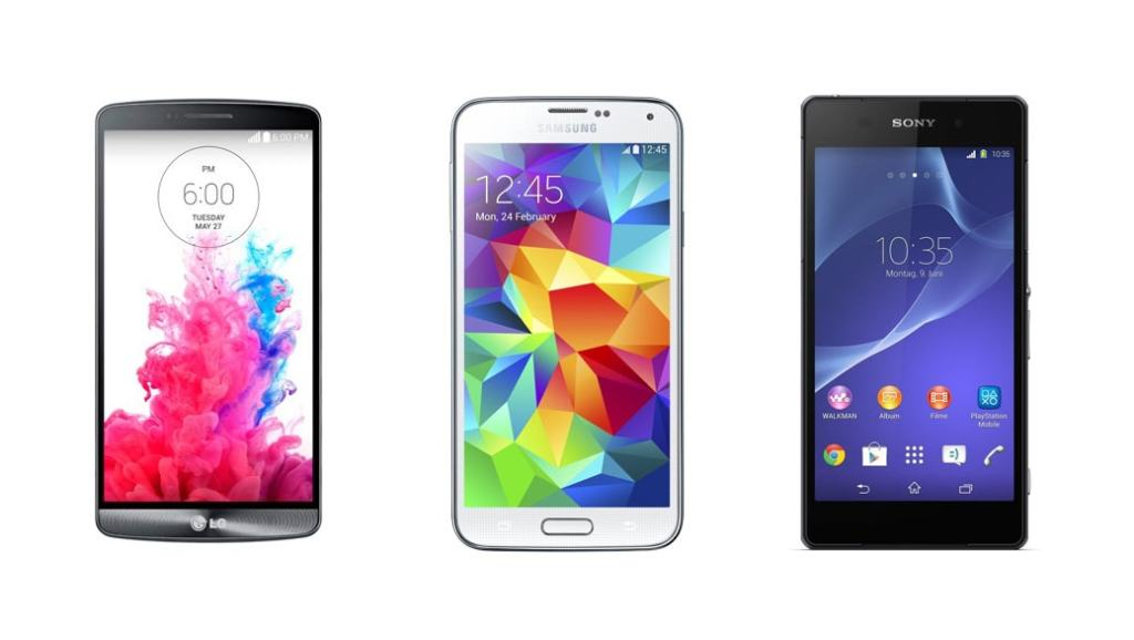 LG G3 vs Samsung Galaxy S5 vs Sony Xperia Z2: Comparativa smartphones de gama alta