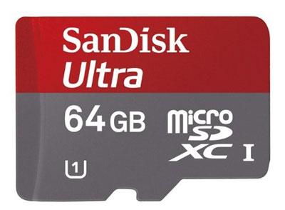 Sandisk Ultra - Tarjeta microSD de 64 GB (clase 10)