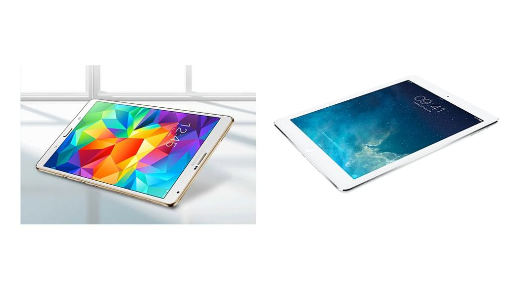 Samsung Galaxy Tab S 10.5 vs iPad Air: comparativa tablets