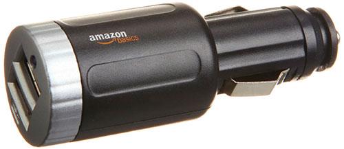 cargador de coche con dos puertos USB
