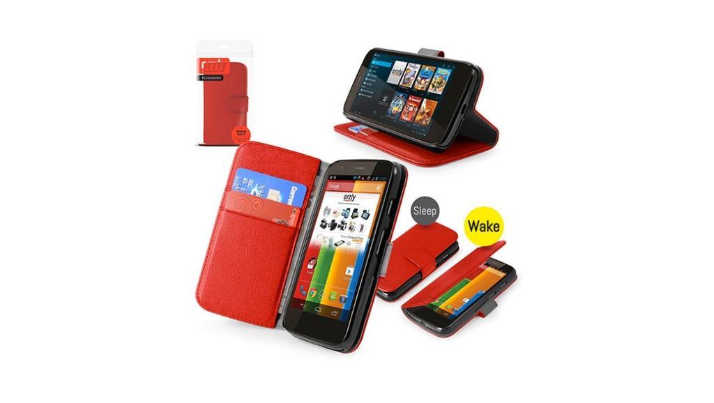Funda Orzly con cierre magnético para el Motorola Moto E, Moto G y Moto X por menos de 10 euros