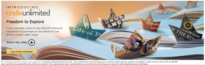 Kindle Unlimited, el nuevo servicio de suscripción por eBooks de Amazon