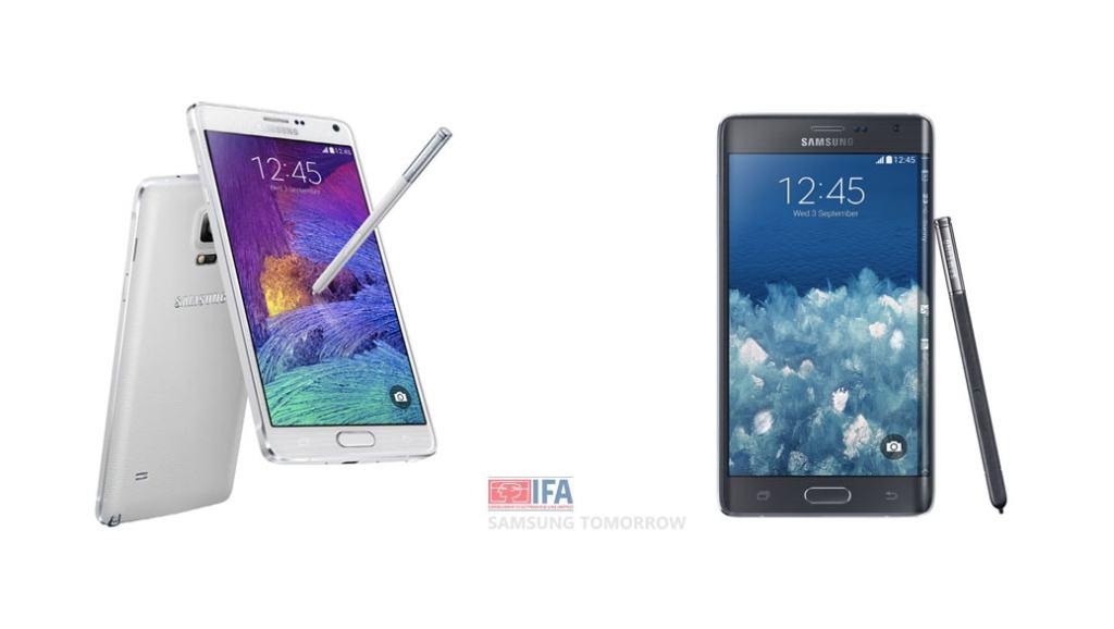 Galaxy Note 4 y Galaxy Note Edge: Los nuevos dispositivos de Samsung