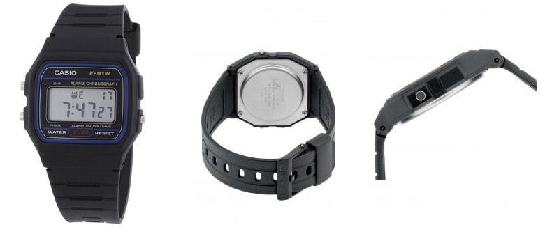 Reloj Casio 2900 F-91 - La correa negra más retro esta de vuelta
