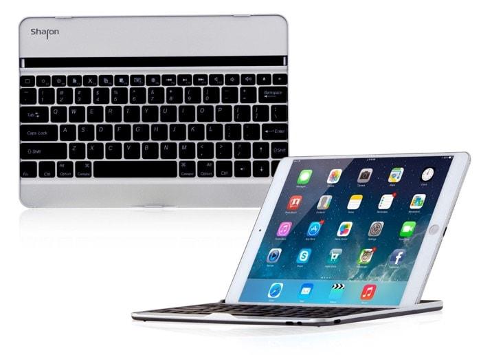 Carcasa de aluminio para iPad Air 2 con teclado Bluetooth