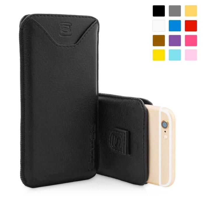 Funda Snugg de cuero en color Negro para el iPhone 6