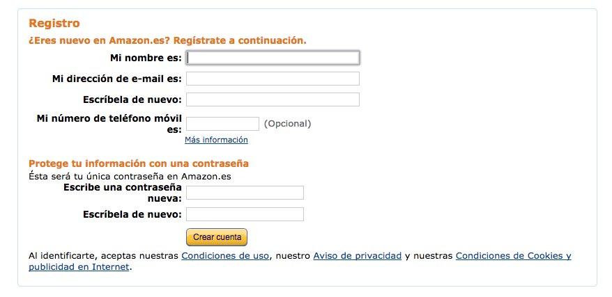 registro amazon