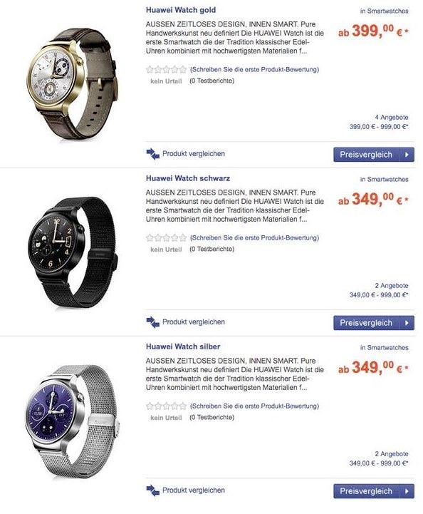 Precio del Huawei Watch
