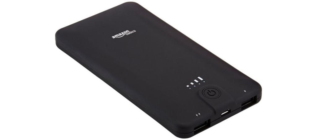 Cargador de batería externo portátil de 10.000 mAh de AmazonBasics