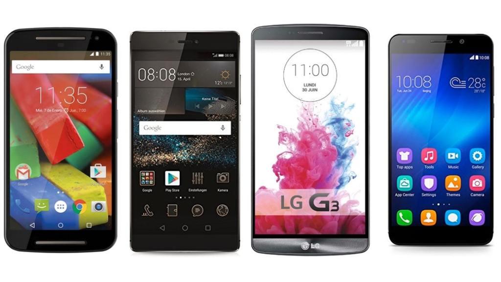 Los 5 mejores smartphones libres Android entre 150 y 500 euros (2015)