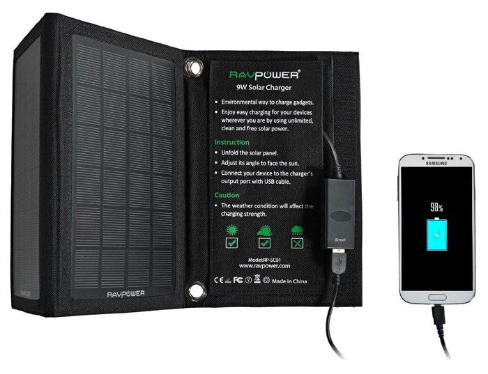 RAVPower RP-SC01 9W - Cargador solar - Opinión