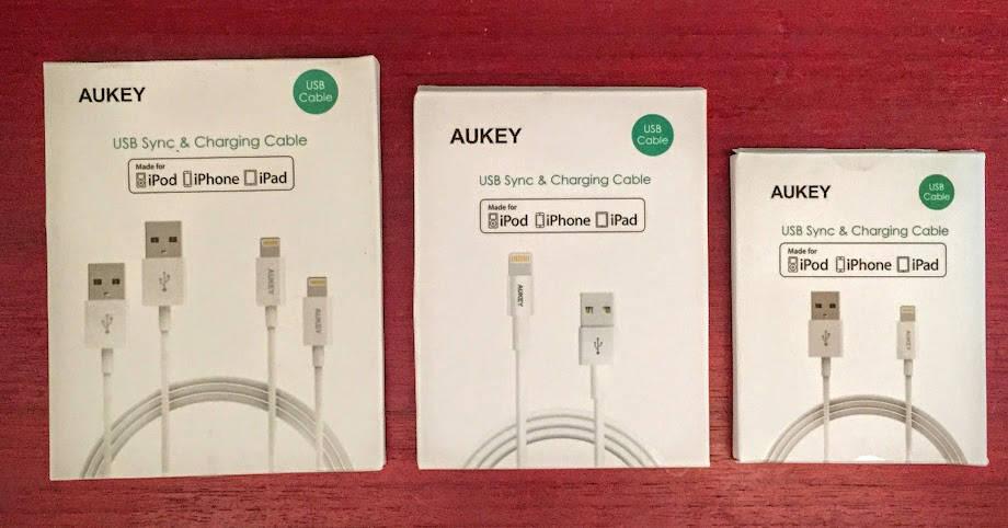 Cables Lightning de Aukey para iPhone, iPad e iPod: buen precio, calidad y varios tamaños