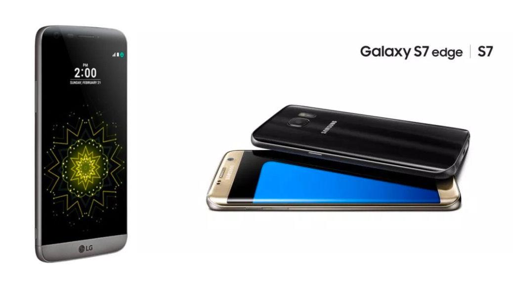 Lg G4 Vs Galaxy S7 Edge: Se Han Presentado El LG G5 Y El Samsung Galaxy S7 Y S7