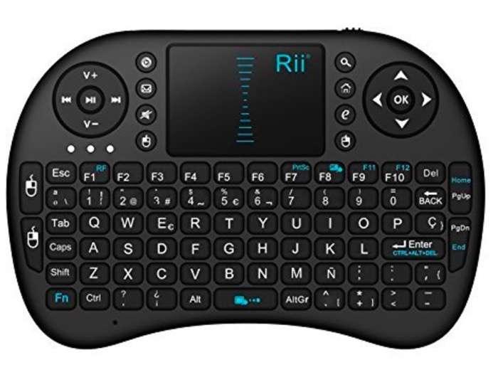 Rii Mini i8 - Teclado ergonómico con touchpad (RF 2.4 GHz, USB)