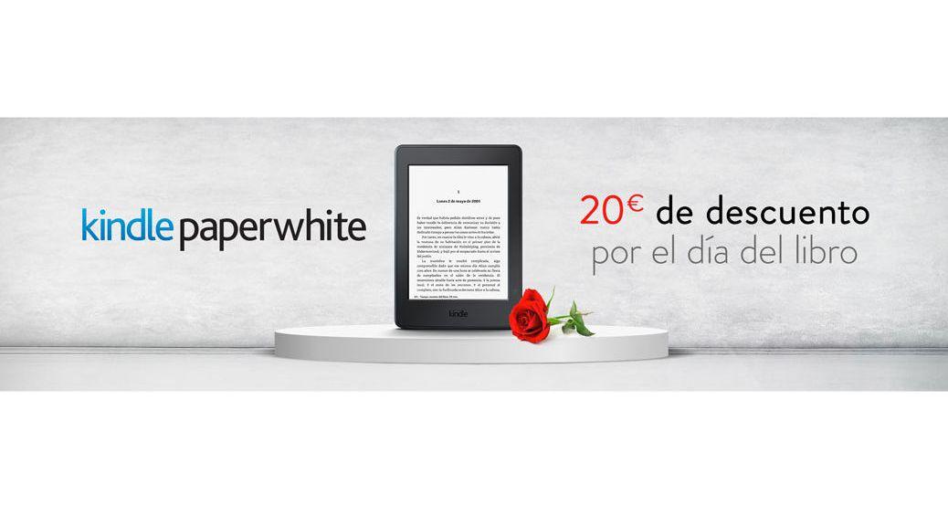 Kindle paperwhite ereader en oferta por el día del libro 2016