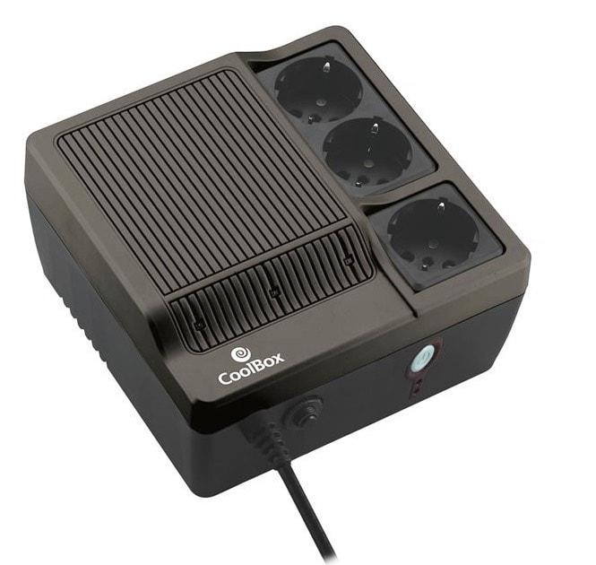CoolBox SCUDO-600B - Fuente de alimentación continua, 600 VA