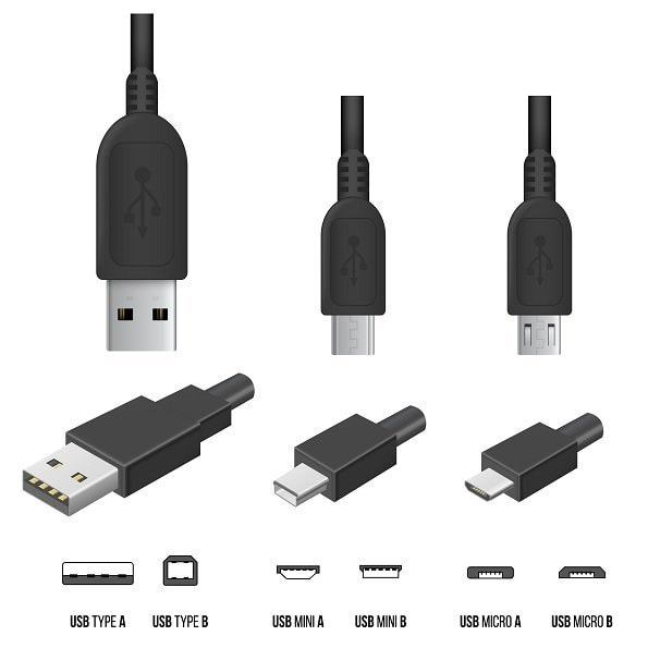 Tipos cables USB