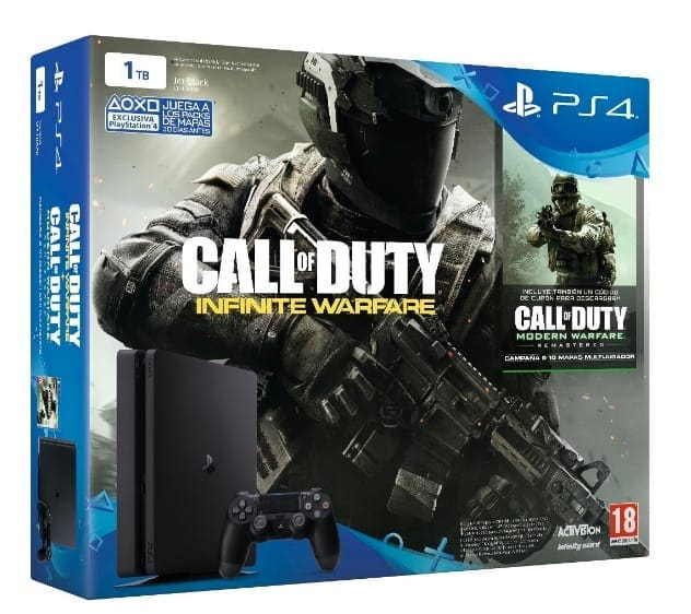 PlayStation 4 Slim (PS4) 1TB – Consola + COD: Infinity Warfare – Legacy Edition