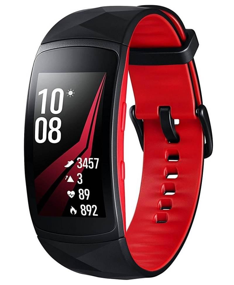 Samsung Gear Fit 2 Pro - Pulsera de Fitness de 1.5'' (4 GB, 1 GHz, 0.5 GB RAM, Tizen), resistente al agua, color rojo