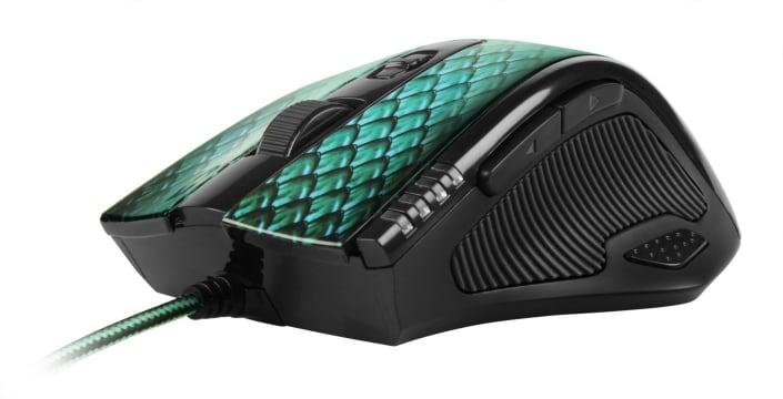 Sharkoon Drakonia - Ratón laser para juegos con 11 botones