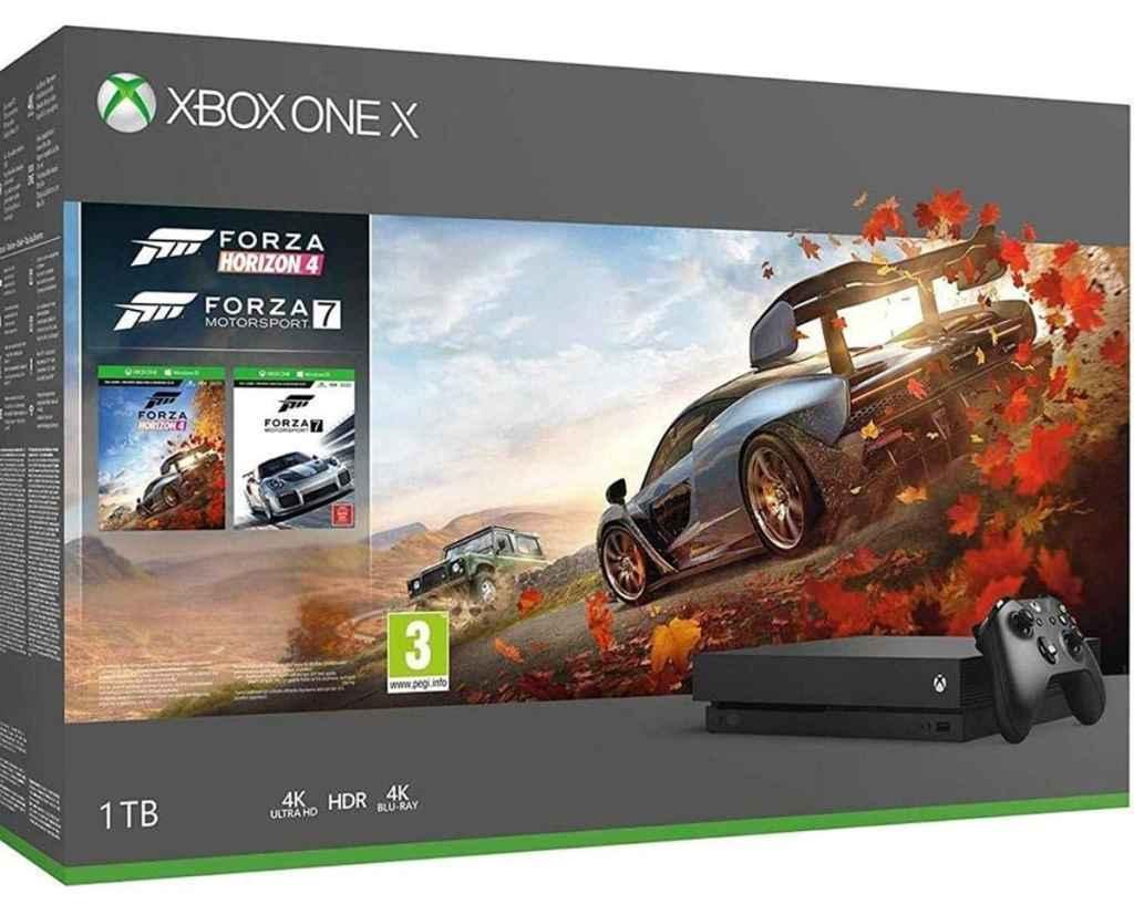 Microsoft Xbox One X - Consola 1 TB, Forza Horizon 4 Y Forza Motorsport 7