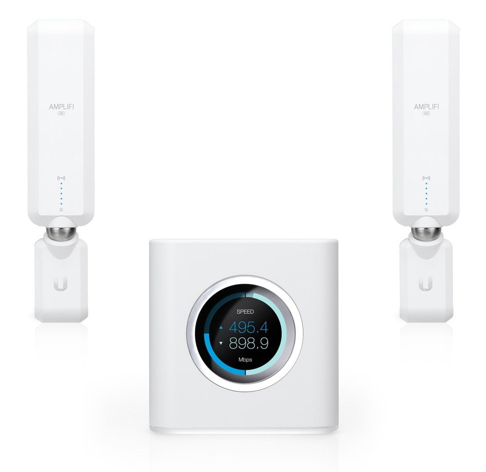 Los mejores routers WIFI Mesh: Ubiquiti Amplifi Home Wi-Fi Mesh –conmutador de 4puertos–GigE–802.11abgnac–Banda Dual (AFI de HD)