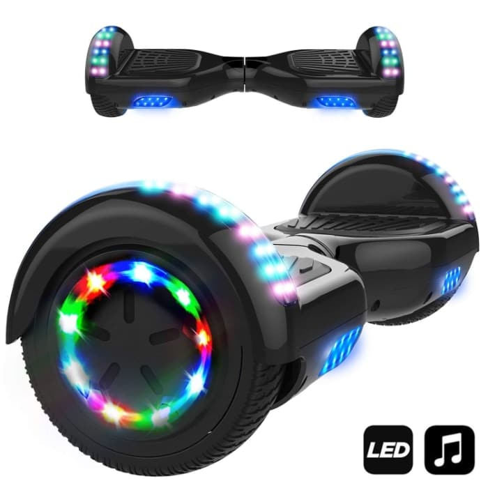 "Markboard Patinete Eléctrico 6.5"" con Luces LED, Flash Ruedas"