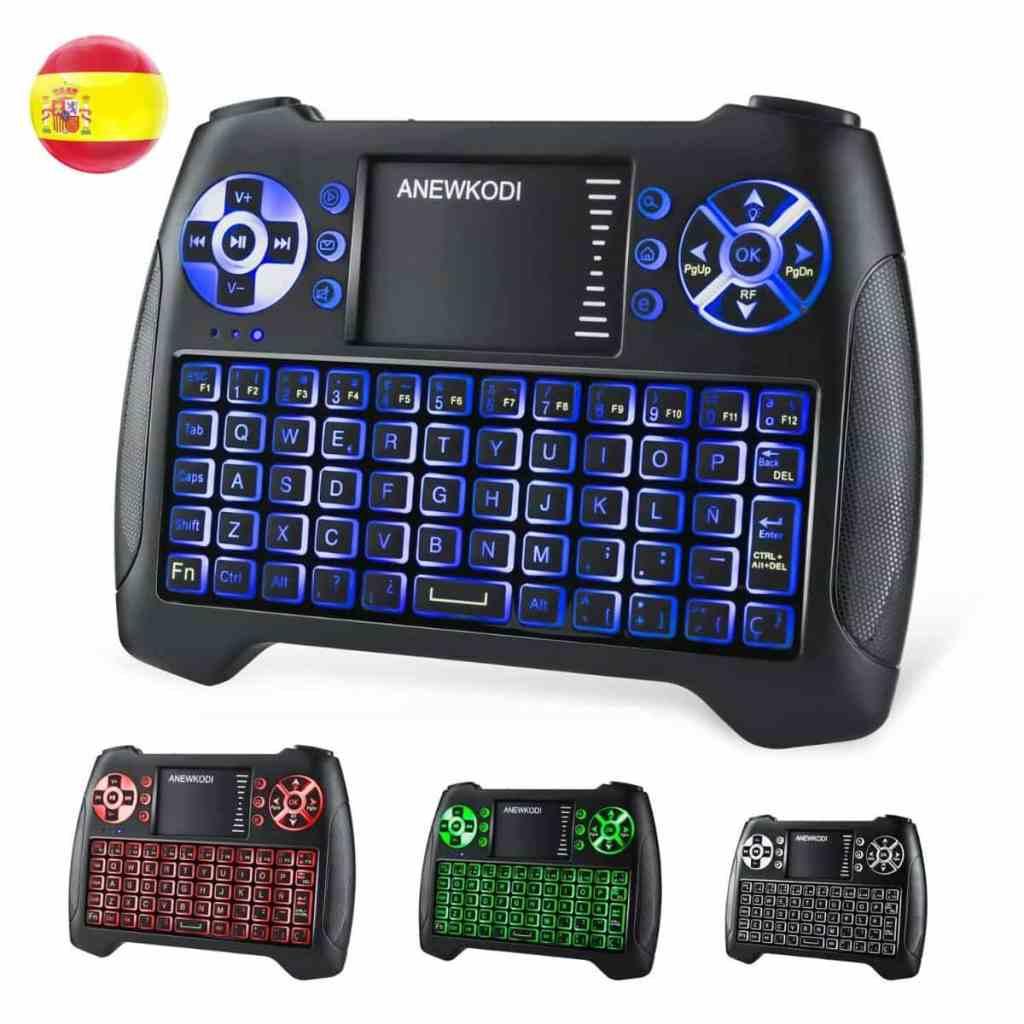 Los mejores teclados para Smart TV o TV Box: ANEWKODI T16 Mini Teclado Retroiluminado