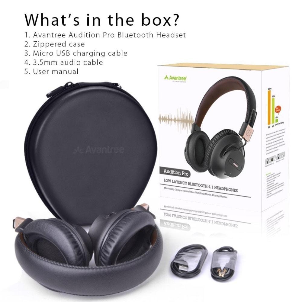 Avantree Audition Pro - Auriculares inalámbricos bluetooth para TV
