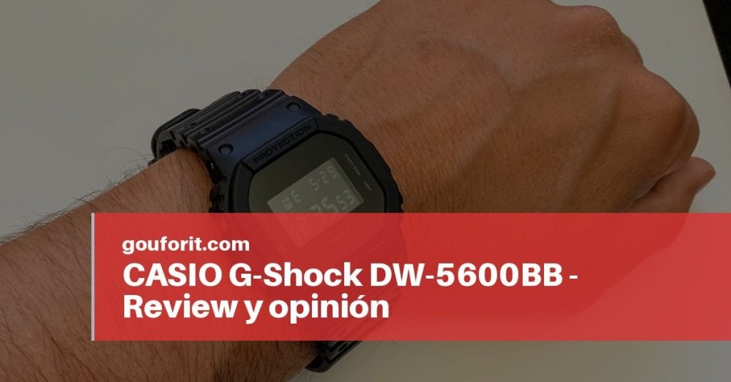 CASIO G-Shock DW-5600BB - Review y opinión